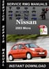 Thumbnail 2003 Nissan Micra Service Repair Manual Download