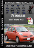 Thumbnail 2007 Nissan Micra K12 Service Repair Manual Download