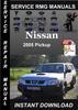 Thumbnail 2005 Nissan Pickup Service Repair Manual Download