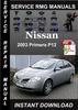 Thumbnail 2003 Nissan Primera P12 Service Repair Manual Download