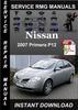 Thumbnail 2007 Nissan Primera P12 Service Repair Manual Download