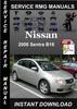 Thumbnail 2008 Nissan Sentra B16 Service Repair Manual Download