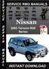 Thumbnail 2003 Nissan Terrano R20 Series Service Repair Manual Downloa