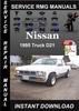 Thumbnail 1995 Nissan Truck D21 Service Repair Manual Download