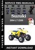 Thumbnail 2004 Suzuki LT Z250 Service Repair Manual Download