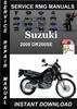 Thumbnail 2005 Suzuki DR200SE Service Repair Manual Download