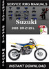 Thumbnail 2005 Suzuki DR-Z125 L Service Repair Manual Download