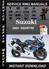 Thumbnail 2005 Suzuki GSXR750 Service Repair Manual Download