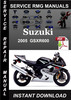 Thumbnail 2005 Suzuki GSXR600 Service Repair Manual Download