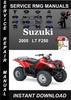 Thumbnail 2005 Suzuki LT F250 Service Repair Manual Download