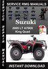Thumbnail 2005 Suzuki LT A700X King Quad Service Repair Manual Downloa