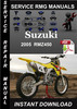 Thumbnail 2005 Suzuki RMZ450 Service Repair Manual Download