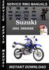 Thumbnail 2004 Suzuki DR650SE Service Repair Manual Download