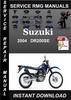 Thumbnail 2004 Suzuki DR200SE Service Repair Manual Download