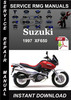 Thumbnail 1997 Suzuki XF650 Service Repair Manual Download