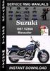 Thumbnail 1997 Suzuki VZ800 Marauder Service Repair Manual Download