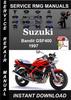 Thumbnail 1997 Suzuki Bandit GSF400 Service Repair Manual Download