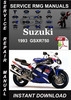 Thumbnail 1993 Suzuki GSXR750 Service Repair Manual Download