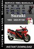Thumbnail 1993 Suzuki GSX-R1100 Service Repair Manual Download