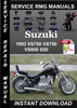 Thumbnail 1993 Suzuki VS700 VS750 VS800 S50 Service Repair Manual Down