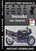 Thumbnail 1994 Suzuki GSXR750 Service Repair Manual Download