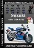 Thumbnail 1994 Suzuki GSX-R750 Service Repair Manual Download