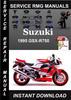 Thumbnail 1995 Suzuki GSX-R750 Service Repair Manual Download