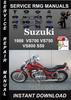 Thumbnail 1988 Suzuki VS700 VS750 VS800 S50 Service Repair Manual Down