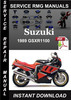 Thumbnail 1989 Suzuki GSXR1100 Service Repair Manual Download