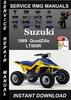Thumbnail 1989 Suzuki QuadZilla LT500R Service Repair Manual Download