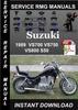 Thumbnail 1989 Suzuki VS700 VS750 VS800 S50 Service Repair Manual Down