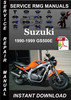 Thumbnail 1990-1999 Suzuki GS500E Service Repair Manual Download