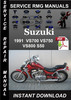 Thumbnail 1991 Suzuki VS700 VS750 VS800 S50 Service Repair Manual Down