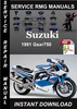 Thumbnail 1991 Suzuki Gsxr750 Service Repair Manual Download