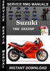 Thumbnail 1992 Suzuki GSX250F Service Repair Manual Download