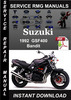 Thumbnail 1992 Suzuki Bandit GSF400 Service Repair Manual Download