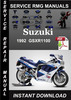 Thumbnail 1992 Suzuki GSXR1100 Service Repair Manual Download