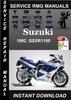 Thumbnail 1992 Suzuki GSXR1100 Service Repair Manual Download