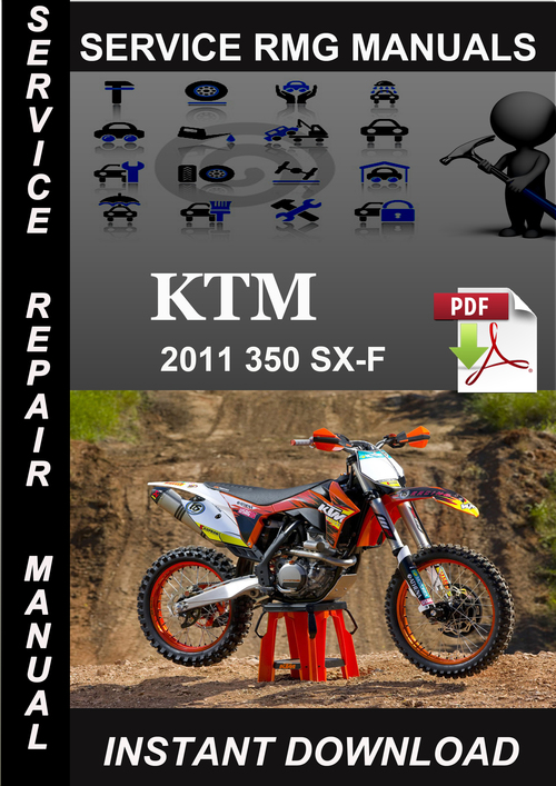 Pay for 2011 KTM 350 SX-F Service Repair Manual Download