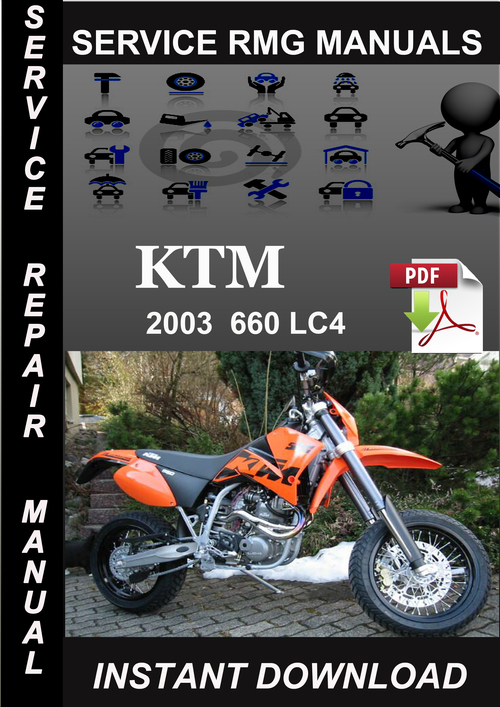 ktm 400 620 lc4 lc4e 1997 service repair manual download