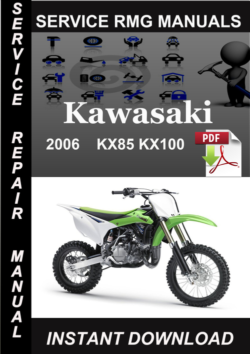 2006 kawasaki kx85 kx100 service repair manual download download rh tradebit com KX 100 2006 Monster Graphics 2016 KX 85