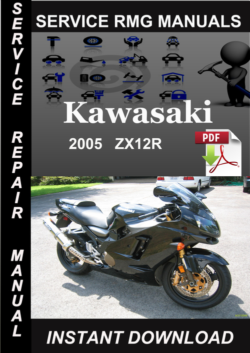 2005 Kawasaki ZX12R Ninja Service Repair Manual Download on