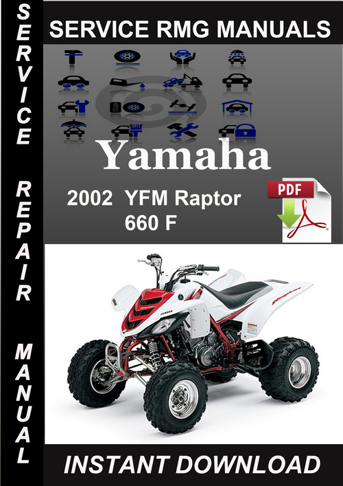 2002 yamaha yfm raptor 660 f service repair manual downl