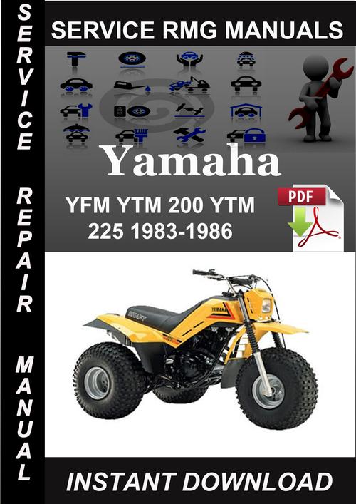 yamaha yfm ytm 200 ytm 225 1983 1986 service repair manual. Black Bedroom Furniture Sets. Home Design Ideas