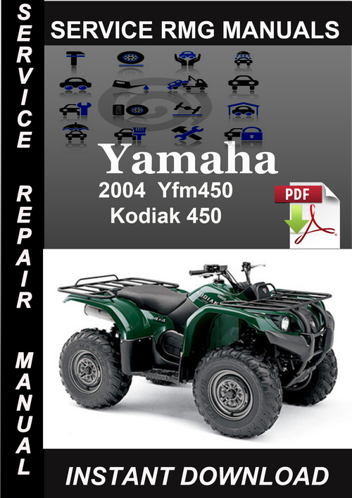 2004 Yamaha Yfm450 Kodiak 450 Service Repair Manual Download