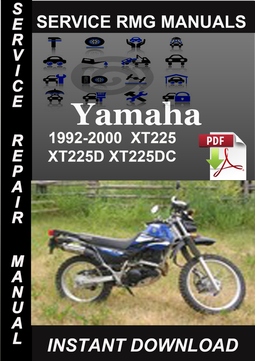 1992 2000 yamaha xt225 xt225d xt225dc service repair. Black Bedroom Furniture Sets. Home Design Ideas