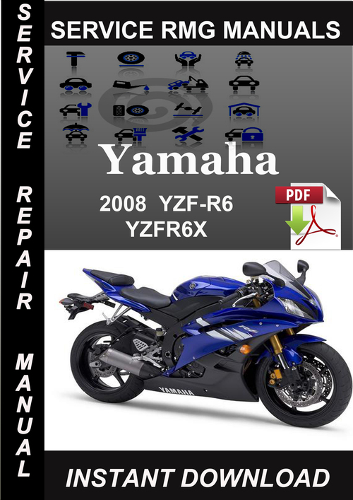 2008 Yamaha Yzf-r6 Yzfr6x Service Repair Manual Download