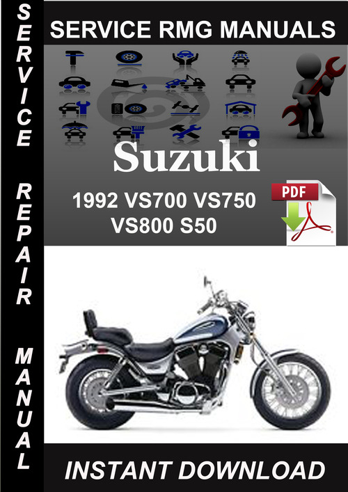 1992 suzuki vs700 vs750 vs800 s50 service repair manual