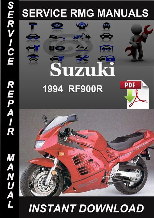 suzuki rf900r motorcycle service repair manual 1995 1996 1997 download