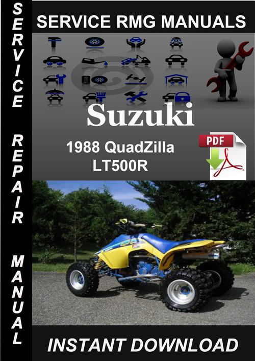 suzuki lt500r quadzilla 1987 90 factory service manual